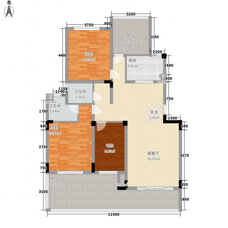 旭辉新里城1户型2室