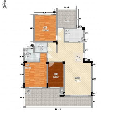 旭辉新里城3室1厅2卫1厨183.00㎡户型图