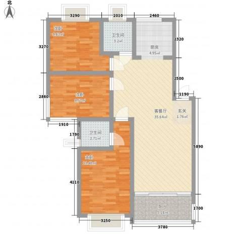 康和苑3室1厅2卫0厨115.00㎡户型图