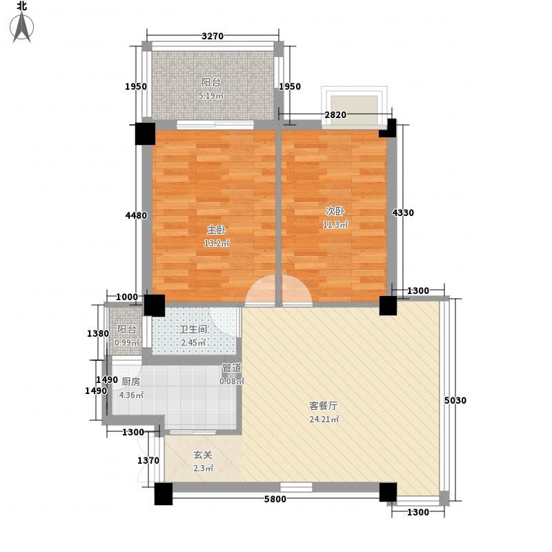 山水卫城81.19㎡山水卫城户型图2室2厅1卫1厨户型10室