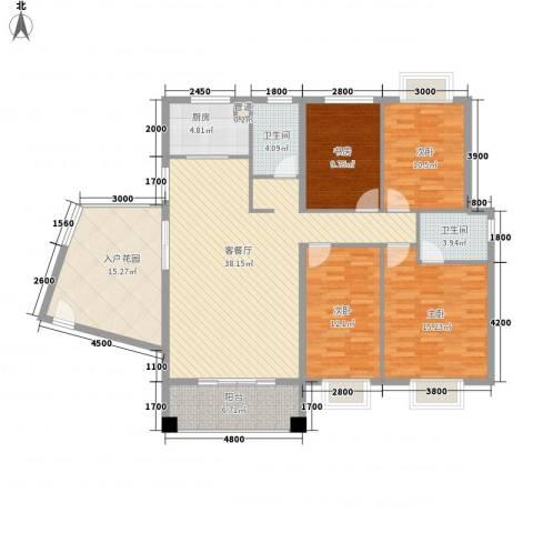 未来海岸蓝月湾4室1厅2卫1厨153.00㎡户型图