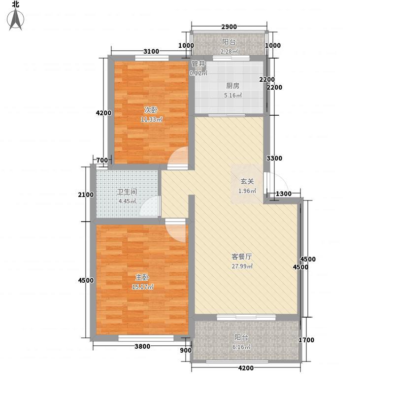 金山・名御苑87.21㎡3#楼C户型2室2厅1卫1厨