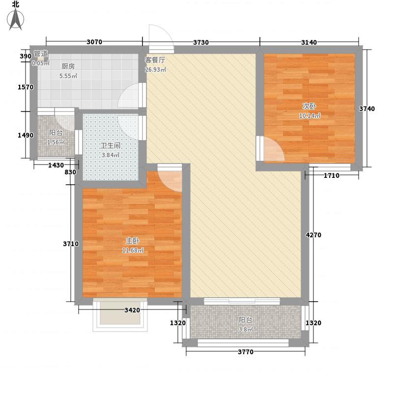东城名邸92.28㎡东城名邸A2室2厅1卫1厨92.28㎡户型2室2厅1卫1厨