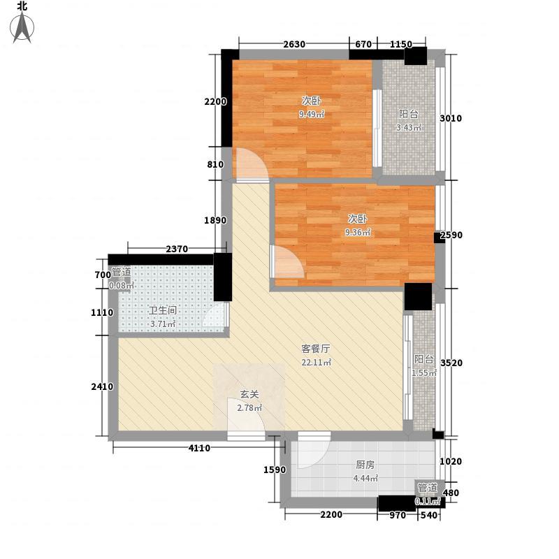 海源花园78.00㎡海源花园2室户型图78户型2室