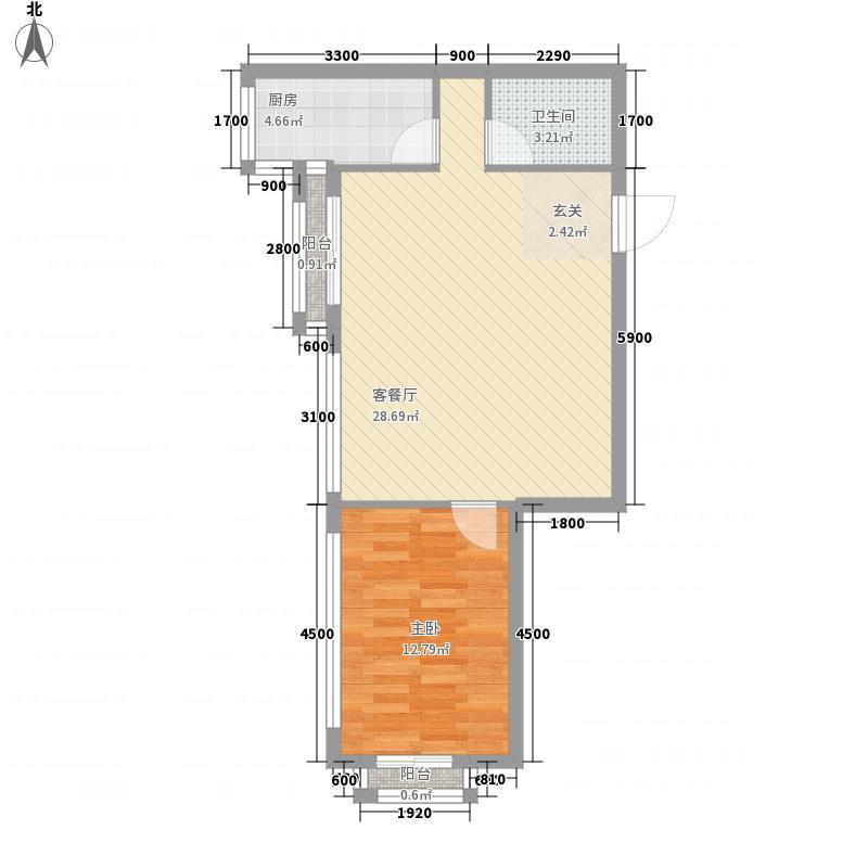 珠江峰景户型1室