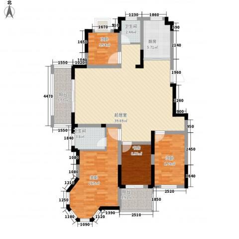 爱涛天逸园4室0厅2卫1厨142.00㎡户型图
