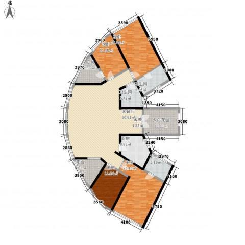 鸿洲・天玺4室1厅3卫1厨247.00㎡户型图