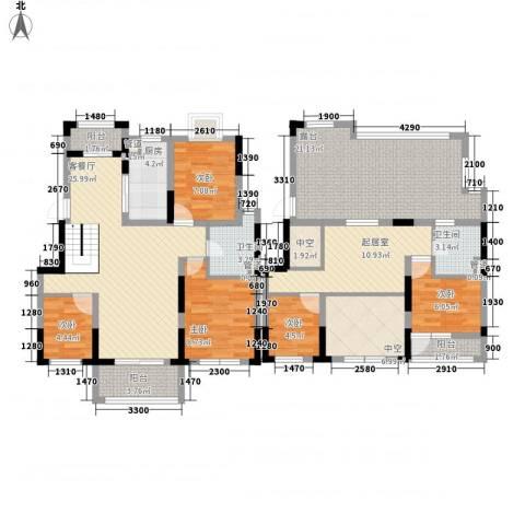 爱涛天逸园5室1厅2卫1厨170.00㎡户型图
