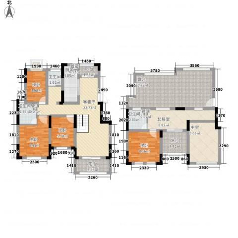 爱涛天逸园4室1厅3卫1厨168.00㎡户型图