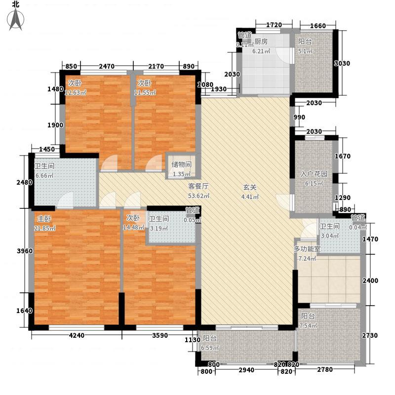 金海岸名邸235.47㎡一期1号楼A2户型5室2厅3卫1厨