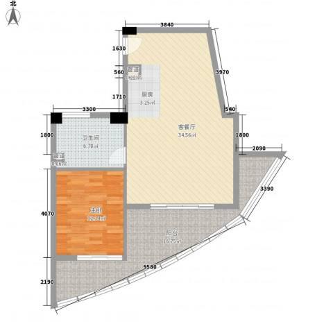 钻石海岸1室1厅1卫0厨82.00㎡户型图