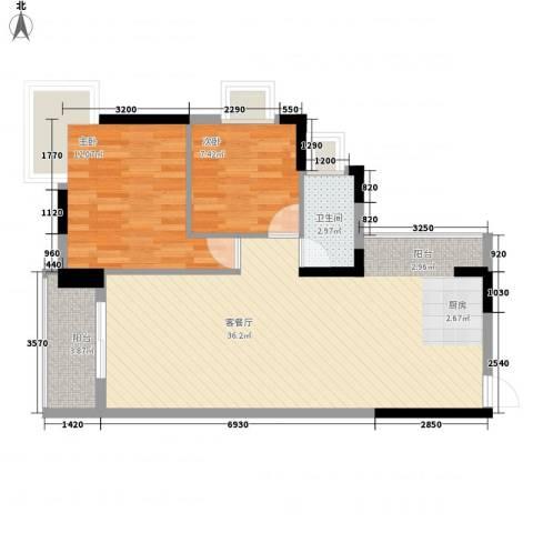 润碧康城2室1厅1卫0厨87.00㎡户型图