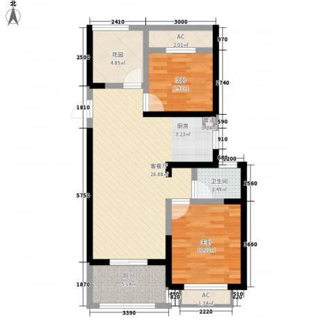 常发香城湾2室1厅1卫0厨71.00㎡户型图
