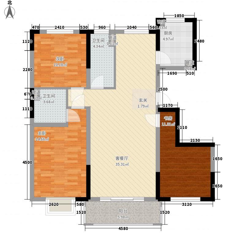 保利花园三期户型3室2厅2卫