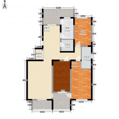 天赐园(和平区)3室1厅2卫1厨184.00㎡户型图