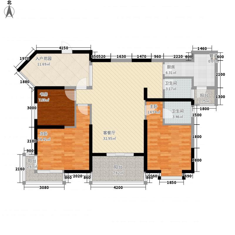旭辉左海岸131.00㎡旭辉左海岸户型图3室2厅2卫1厨户型10室