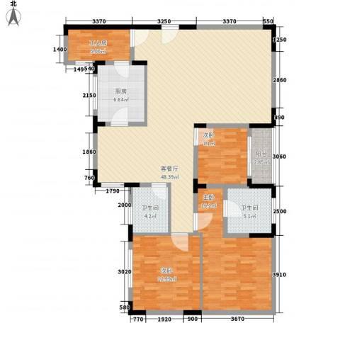 智邦家园3室1厅2卫1厨152.00㎡户型图