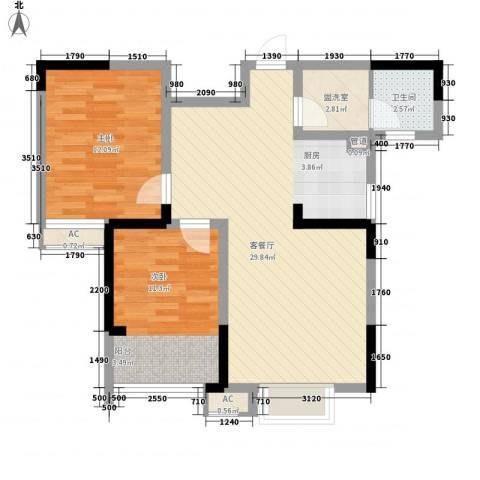佳兆业水岸山城公寓2室1厅1卫0厨87.00㎡户型图