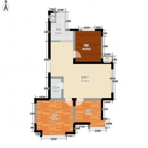 剑桥园3室1厅1卫1厨109.00㎡户型图