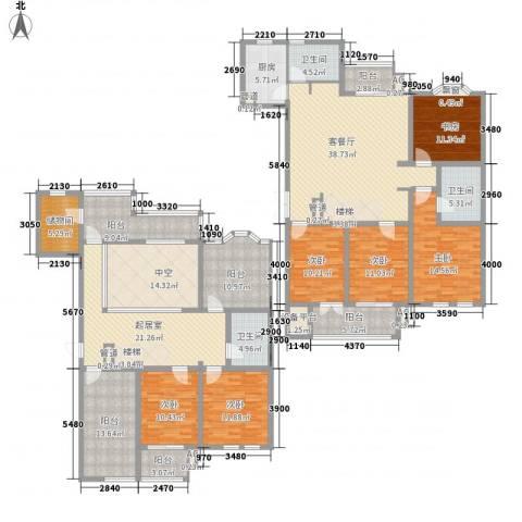 澜郡6室1厅3卫1厨314.00㎡户型图