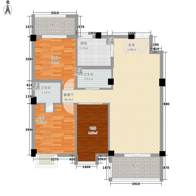 山水卫城112.95㎡山水卫城户型图3室2厅2卫1厨户型10室
