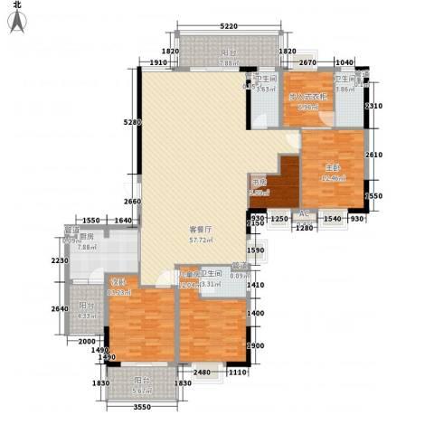 富豪山庄4室1厅3卫1厨203.00㎡户型图