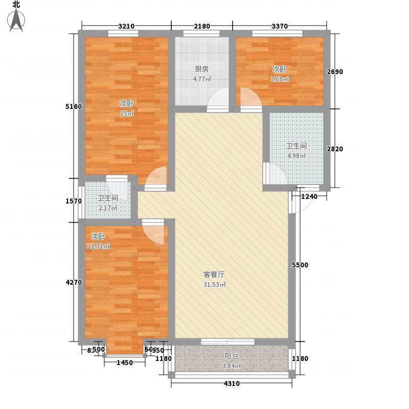 明珠花园119.44㎡明珠花园G户型3室2厅2卫1厨119.44㎡户型3室2厅2卫1厨