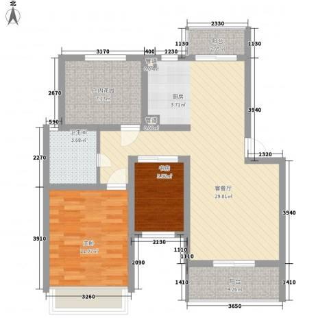 金世湾2室1厅1卫0厨92.00㎡户型图