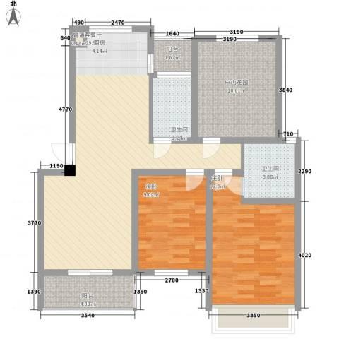 金世湾2室1厅2卫0厨112.00㎡户型图