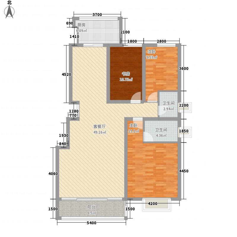 凯尔府邸13.25㎡凯尔福邸5户型3室2厅2卫1厨