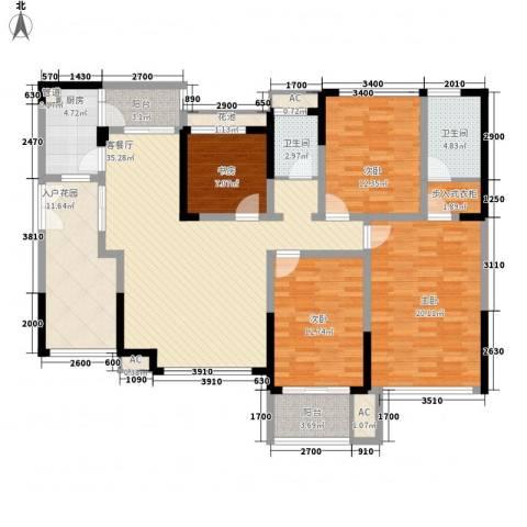 江宇天府城4室1厅2卫1厨181.00㎡户型图