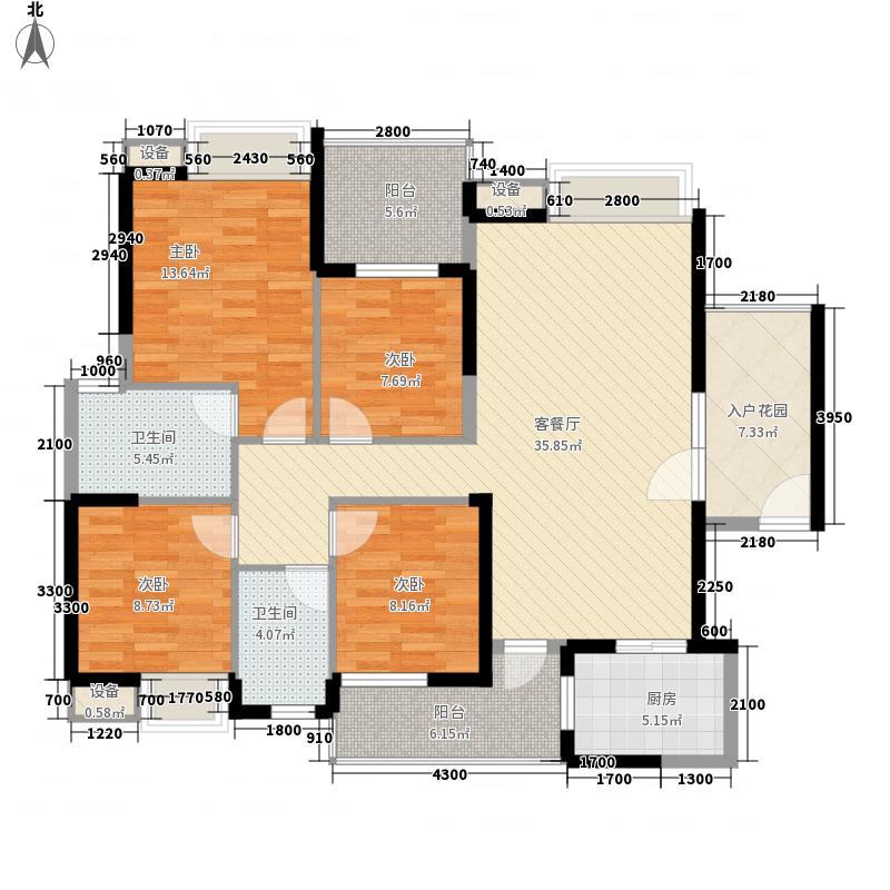 幸福海岸幸福海岸一期户型图户型图4室2厅2卫1厨户型4室2厅2卫1厨