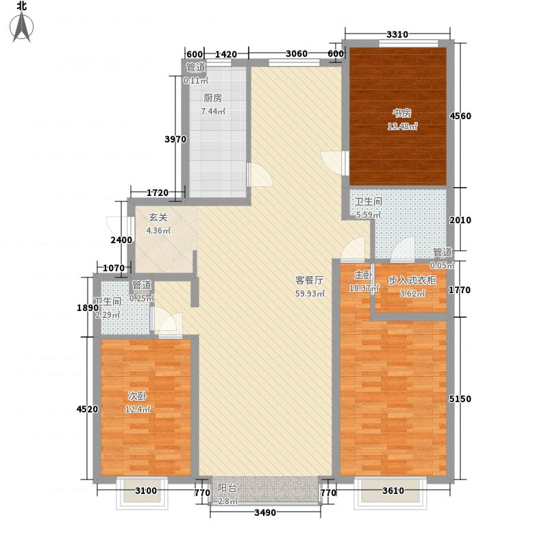 尚东国际15.61㎡D3户型3室2厅2卫1厨