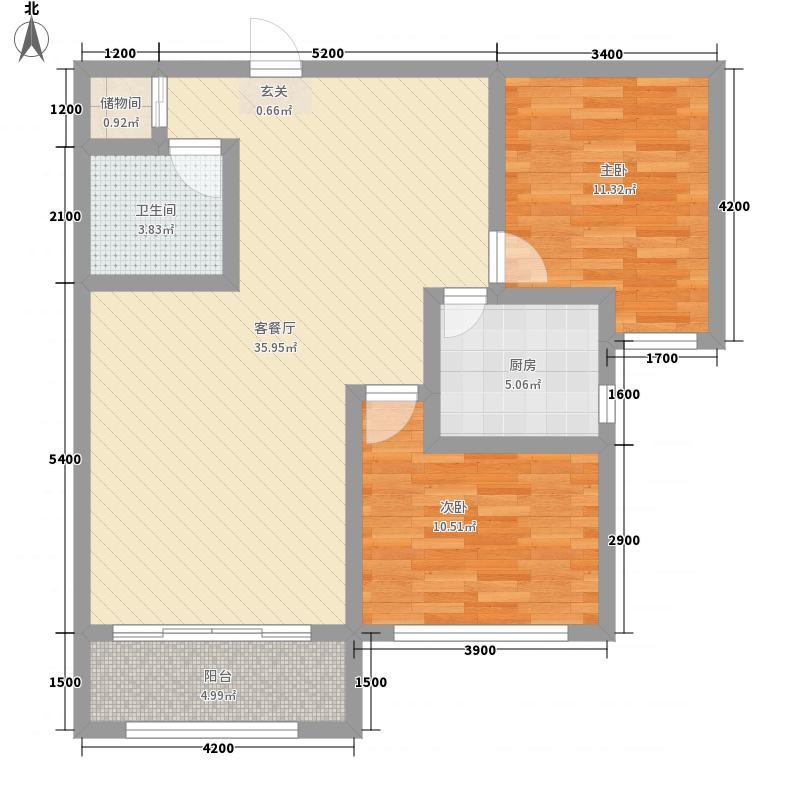 聚和园112.00㎡户型2室1厅1卫1厨