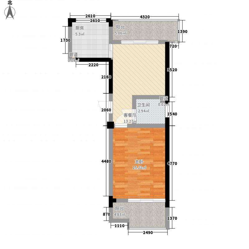 和顺巧克力公寓5.35㎡E户型1室1厅1卫1厨