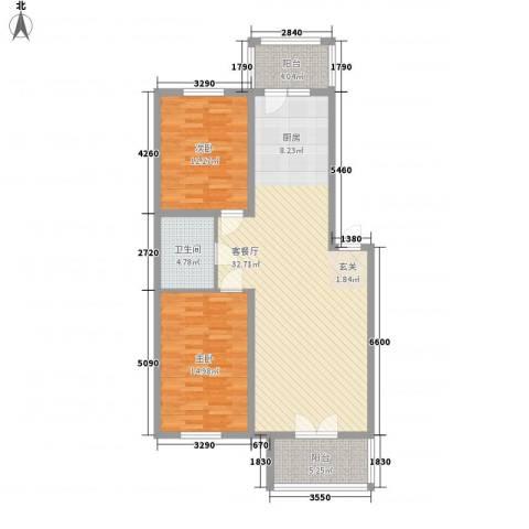 北海新苑2室1厅1卫0厨118.00㎡户型图