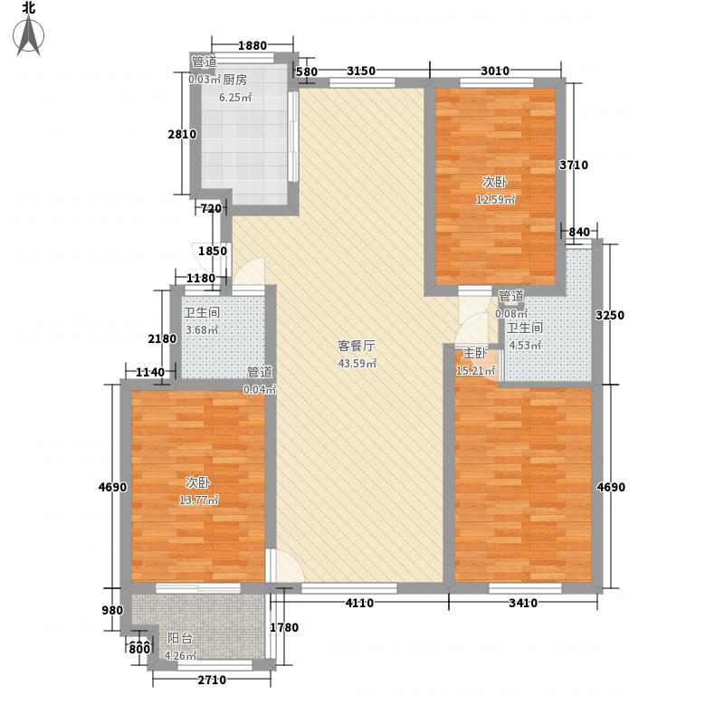 盛世华城148.30㎡A2-01户型3室2厅2卫1厨