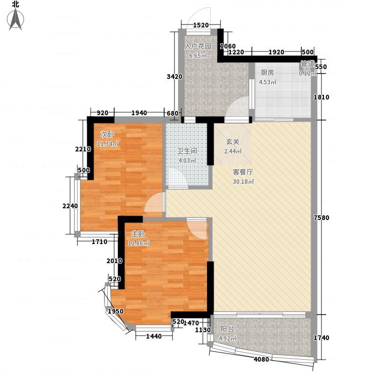 颐景园106.00㎡南海颐景园2室户型2室