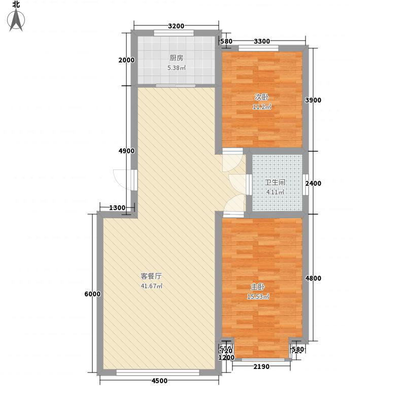 青山倾城98.00㎡青山倾城户型图户型C2室2厅1卫1厨户型2室2厅1卫1厨
