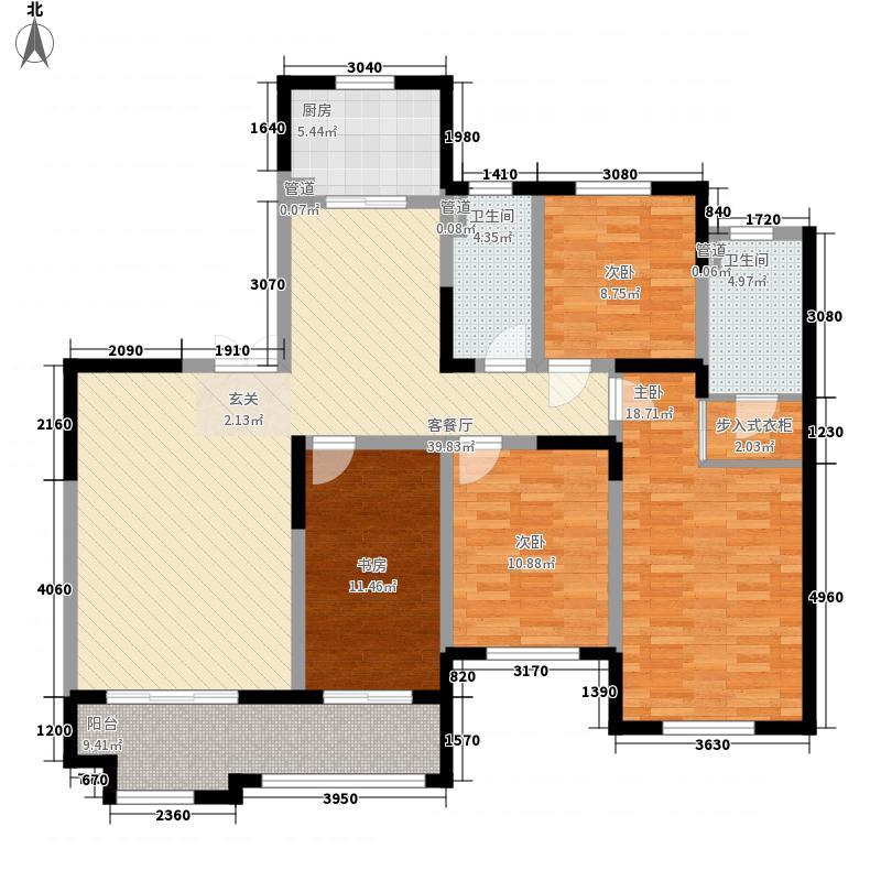 爱家豪庭168.00㎡G户型4室2厅2卫1厨