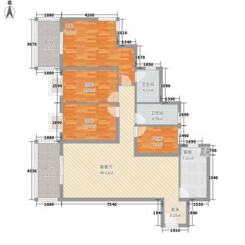 太微花园4室1厅2卫1厨160.00㎡户型图