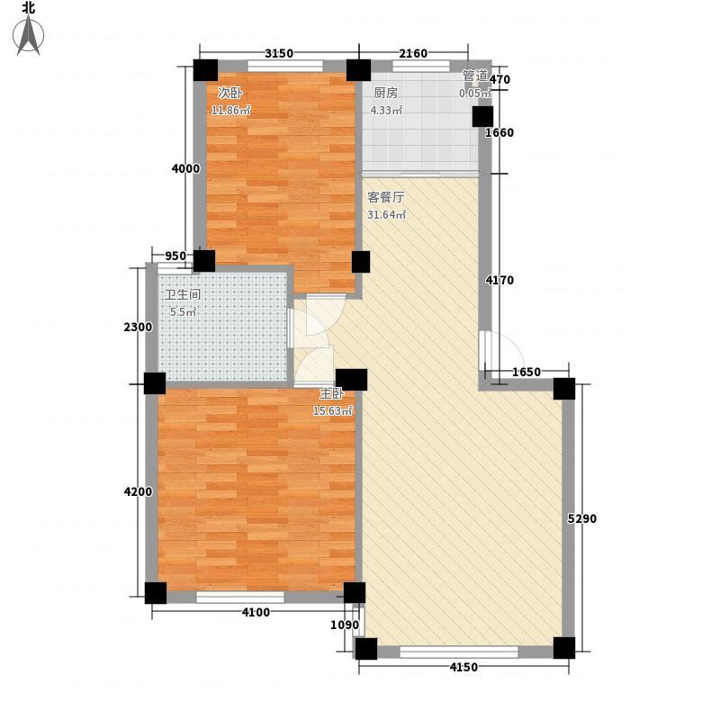 山水秀景88.46㎡山水秀景88.46㎡2室2厅1卫1厨户型2室2厅1卫1厨
