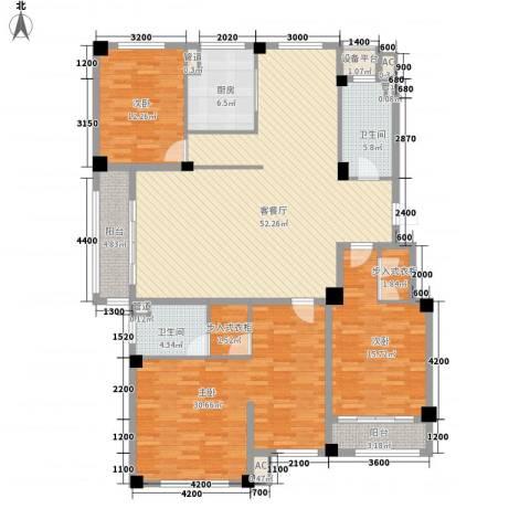 滨海龙城3室1厅2卫1厨202.00㎡户型图