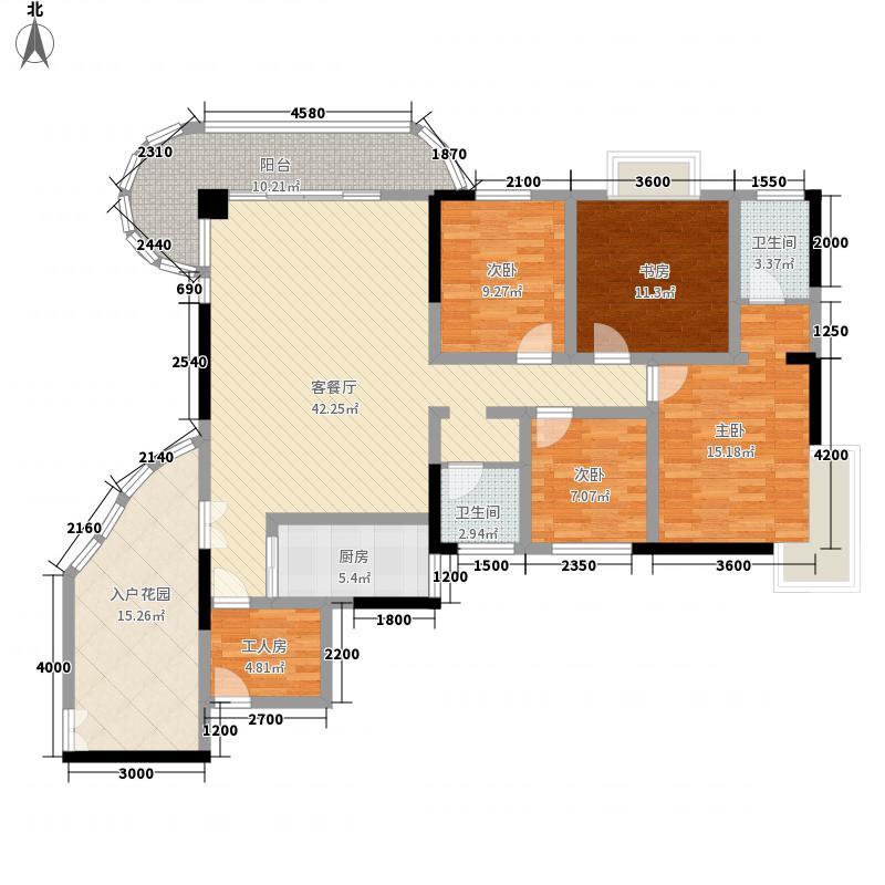 南湖中祥大厦157.00㎡洞天阁D户型4室2厅2卫1厨