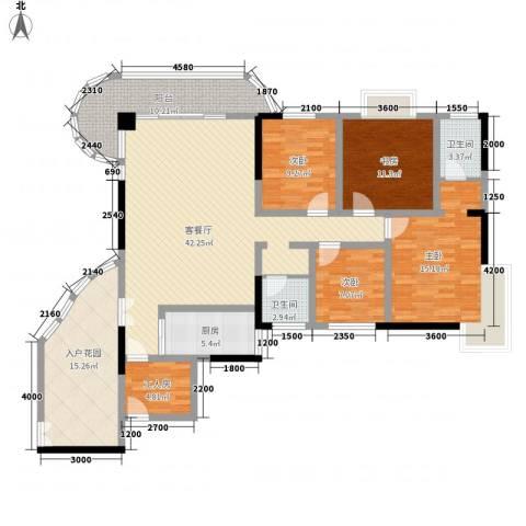 南湖中祥大厦4室1厅2卫1厨157.00㎡户型图