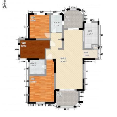 紫金英郡3室1厅2卫1厨126.00㎡户型图