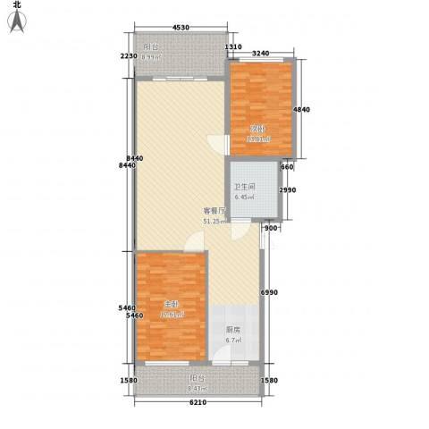 风车小镇2室1厅1卫0厨148.00㎡户型图