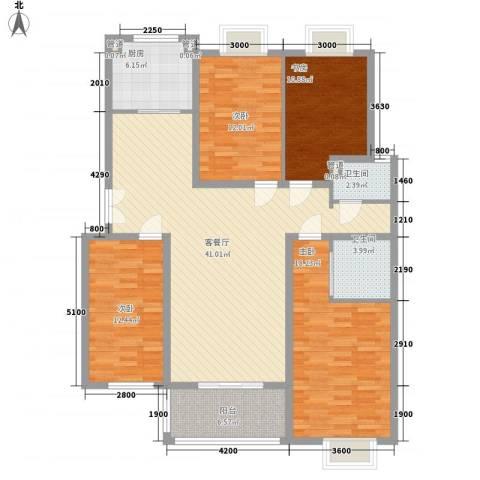 新东方花园4室1厅2卫1厨129.22㎡户型图