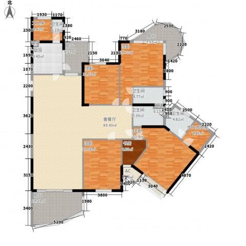 天骄峰景5室1厅4卫1厨318.00㎡户型图