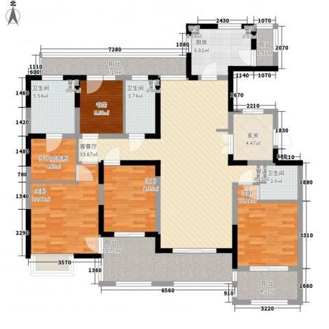 绿地梧桐院4室1厅3卫1厨180.00㎡户型图